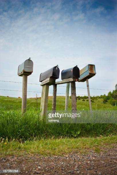 Mailboxes on Country Road