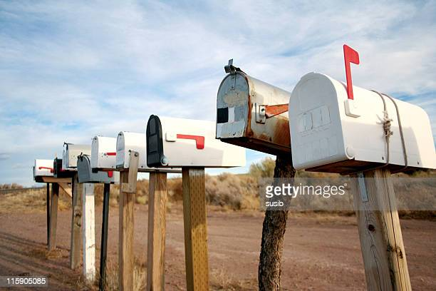 mailboxes waiting to be fed