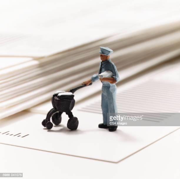 Mailman Figurine on Envelopes