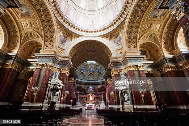 Main Altar And Cupola Of St Stephen's Basilica Budapest Hungary