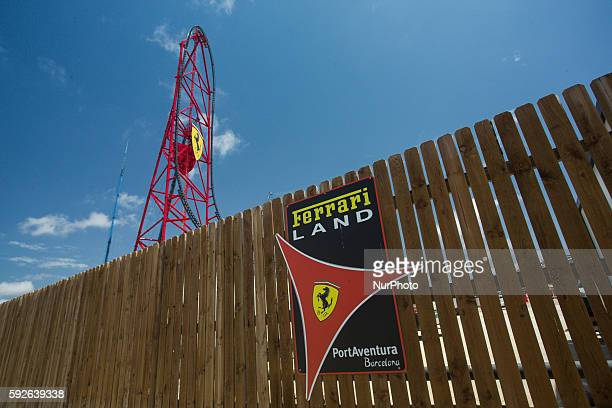 Main attraction of the future Ferrari land the new theme park in construction at Tarragona near PortAventura World Barcelona on August 21 2016 in...