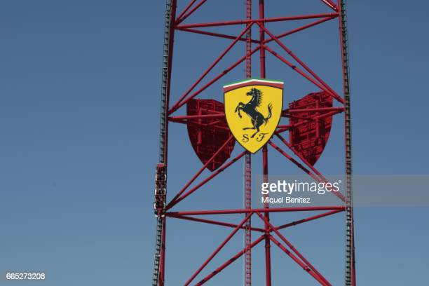Main attraction the new Ferrari Land at Port Aventura World on April 6 2017 in Tarragona Spain