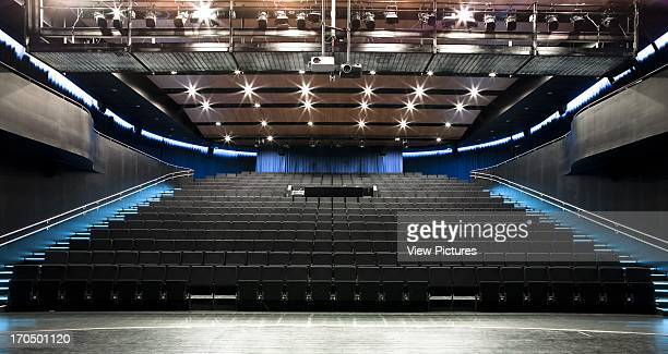 Main auditorium seating Vagen Videregaende Skole Academy School Europe Norway Link Arkitektur AS