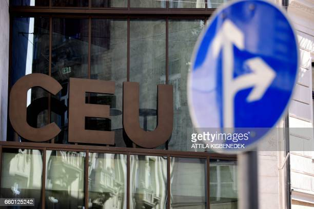 Main building of the Central European University is seen in Budapest on March 29 2017 The Englishlanguage CEU set up in Budapest by Hungarian born...