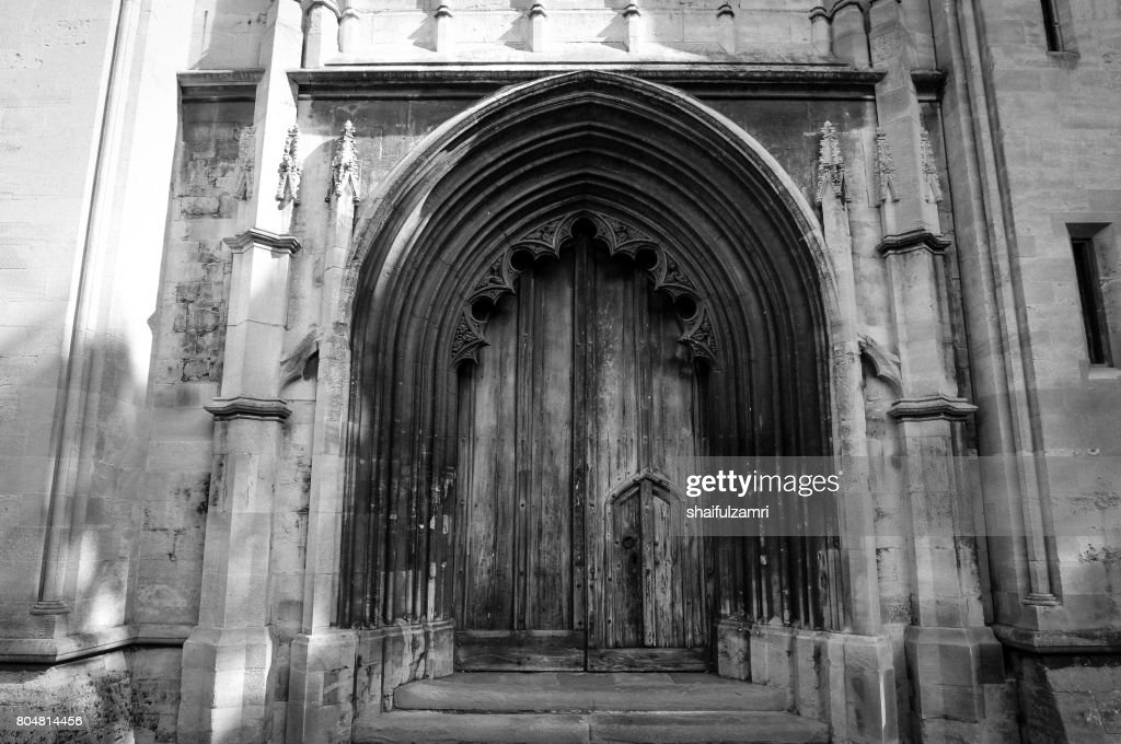 Main door of Bristol cathedral in United Kingdom : Stock Photo