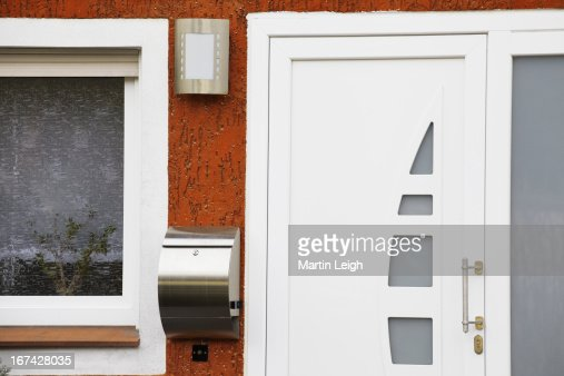 main entrance detail in Germany : Stock Photo