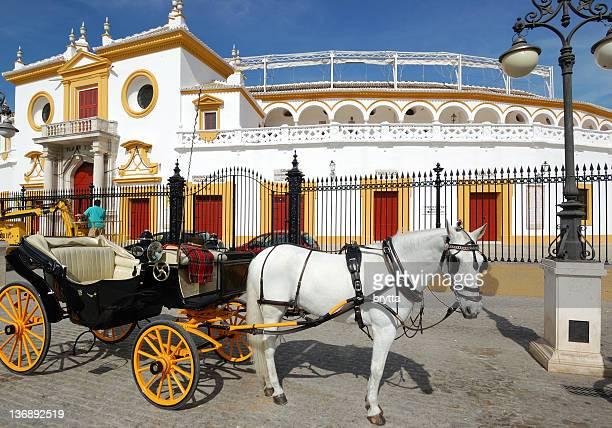 L'entrée principale de La Maestranza, La Plaza de Toros, Séville, Espagne
