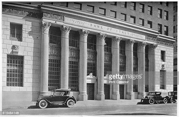 Main entrance to the Bank of Italy Los Angeles California 1924 From The Architectural Forum Volume XLI [Rogers and Manson New York 1924] Artist...