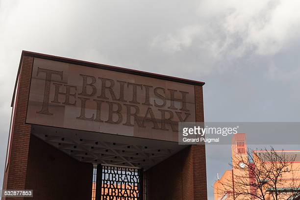 Main entrance to the British Library in London