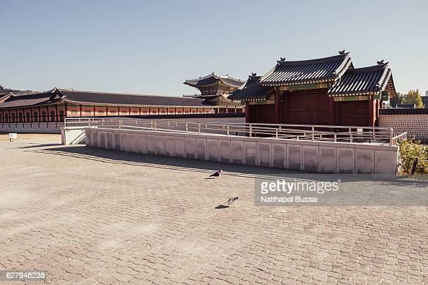 Main gate of Gyeongbokgung Palace , Seoul ,South Korea.
