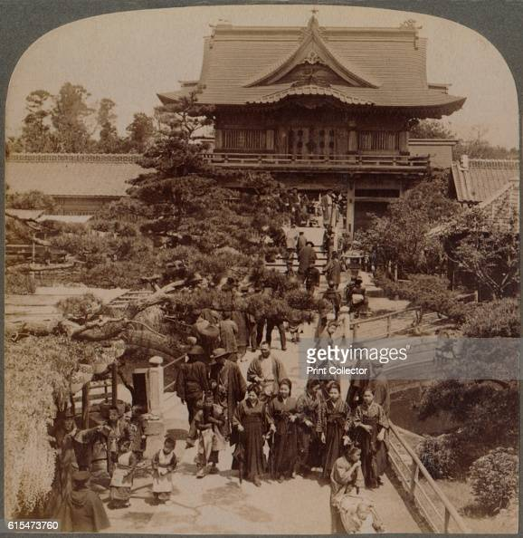Main gateaway to Shinto Temple Kameido Tokyo Japan' 1904 From The Underwood Travel Library Japan [Underwood Underwood London New York 1904] Artist...