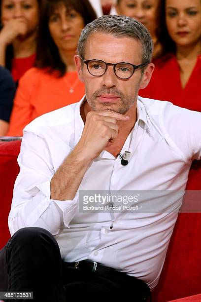 Main guest of the show actor Lambert Wilson presents the movie 'Barbecue' at the 'Vivement Dimanche' French TV Show Held at Pavillon Gabriel on April...