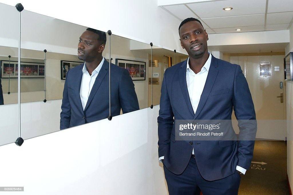 Main guest of the show, Actor Omar Sy, presents the movie 'Chocolat' during the 'Vivement Dimanche' French TV Show at Pavillon Gabriel on January 20, 2016 in Paris, France.