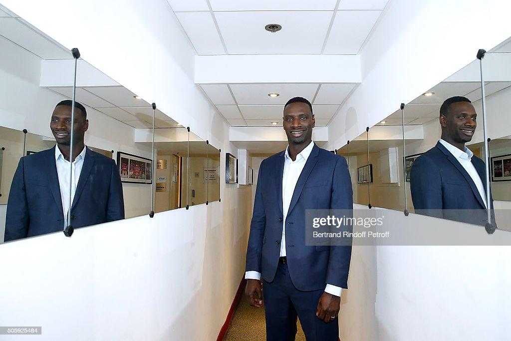 Main guest of the show, Actor <a gi-track='captionPersonalityLinkClicked' href=/galleries/search?phrase=Omar+Sy&family=editorial&specificpeople=4110364 ng-click='$event.stopPropagation()'>Omar Sy</a>, presents the movie 'Chocolat' during the 'Vivement Dimanche' French TV Show at Pavillon Gabriel on January 20, 2016 in Paris, France.
