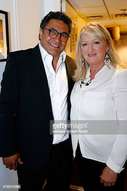 Main Guest of the show Actress and Director Charlotte de Turckheim and her husband Zaman Hachemi attend the 'Vivement Dimanche' French TV Show at...