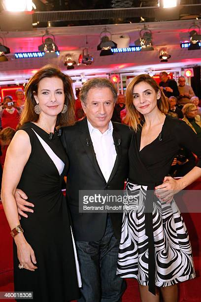 Main guest of the show actress Carole Bouquet who presents the movie 'Une heure de tranquilite' presenter of the show Michel Drucker and Actress...