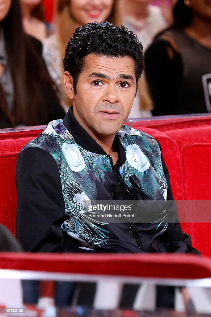 Main guest of the show Humorist <a gi-track='captionPersonalityLinkClicked' href=/galleries/search?phrase=Jamel+Debbouze&family=editorial&specificpeople=606837 ng-click='$event.stopPropagation()'>Jamel Debbouze</a> presents the movie 'Pourquoi j'ai pas mange mon pere ?', wich he directed and played in, during the 'Vivement Dimanche' French TV Show at Pavillon Gabriel on March 25, 2015 in Paris, France.