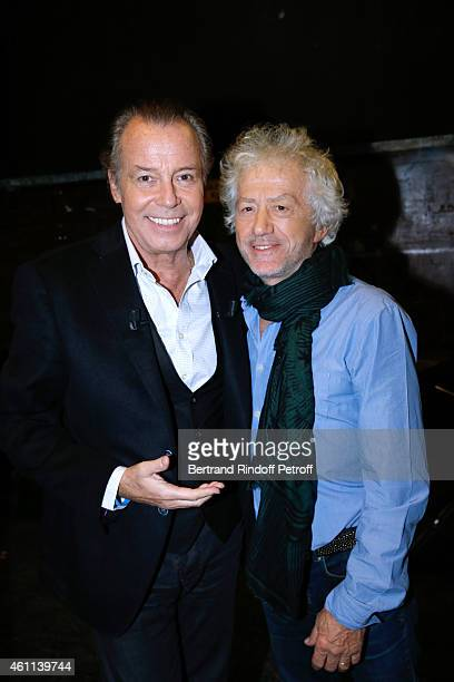 Main guest of the show humorist Michel Leeb and Director JeanLuc Moreau present the Theater Piece 'Le tombeur' during the 'Vivement Dimanche' French...