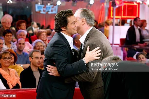 Main Guest of the Show Impersonator Laurent Gerra and Director Christian Carion present the movie 'En Mai fait ce qu'il te plait' during the...