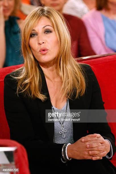 Main Guest of the show Mathilde Seigner presents the movie 'La liste de mes envies' at the 'Vivement Dimanche' French TV show at Pavillon Gabriel on...