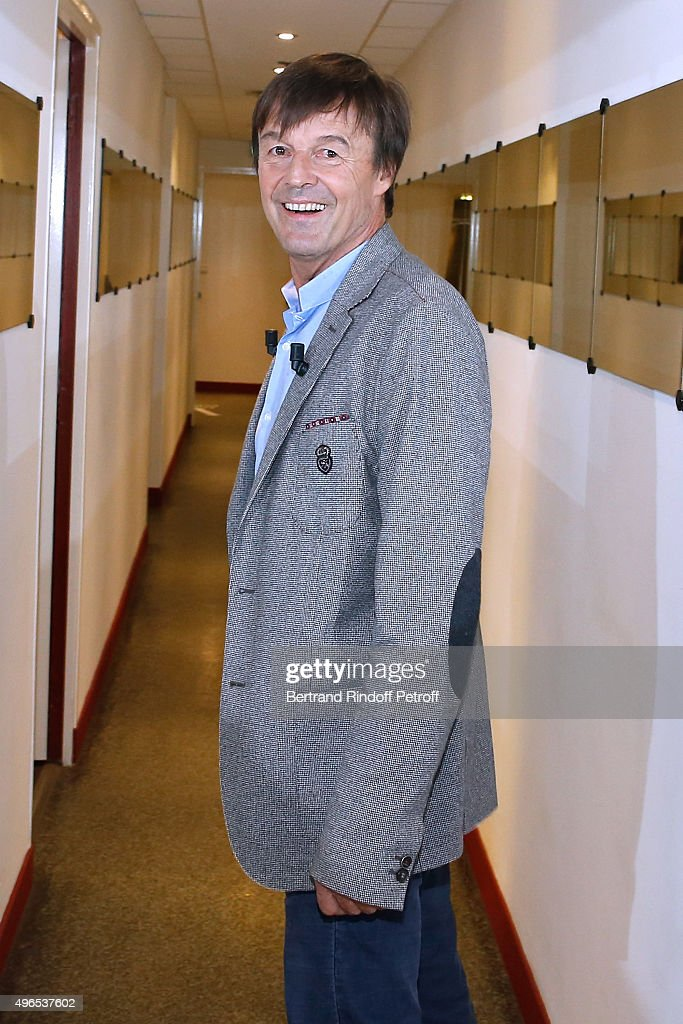 Main Guest of the Show <a gi-track='captionPersonalityLinkClicked' href=/galleries/search?phrase=Nicolas+Hulot&family=editorial&specificpeople=2372364 ng-click='$event.stopPropagation()'>Nicolas Hulot</a> presents his Foundation and his Book 'Osons : Plaidoyer d'un homme libre' during the 'Vivement Dimanche' French TV Show at Pavillon Gabriel on November 10, 2015 in Paris, France.