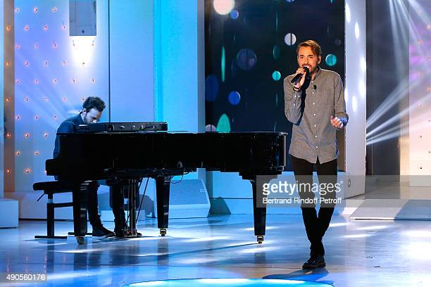 Main Guest of the show singer Christophe Willem performs and presents his Album 'Paraitil' and his Concerts Tour 'Les nuits Paraitil' during the...