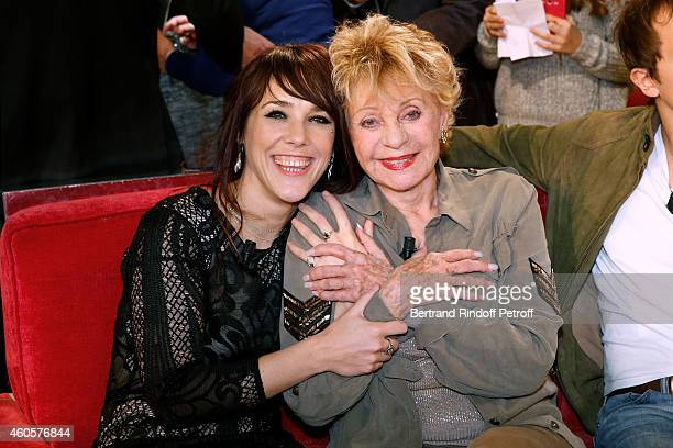 Main guest of the show singer Zaz presents her album 'Paris' and Singer and actress Annie Cordy presents the movie 'Les souvenirs' during the...
