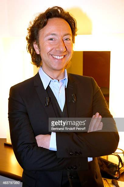 Main Guest of the show Stephane Bern attends the 'Vivement Dimanche' French TV Show at Pavillon Gabriel on February 18 2015 in Paris France