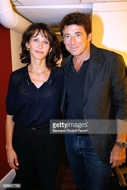 Main guest of the the show actress Sophie Marceau and singer and actor Patrick Bruel present the movie 'Tu veux ou tu veux pas' during the 'Vivement...