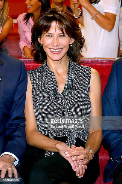 Main guest of the the show actress Sophie Marceau presents the movie 'Tu veux ou tu veux pas' during the 'Vivement Dimanche' French TV Show at...