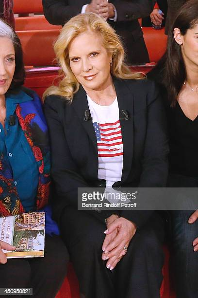 Main Guest singer Sylvie Vartan attends the 'Vivement Dimanche' French TV Show held at Pavillon Gabriel on November 20 2013 in Paris France