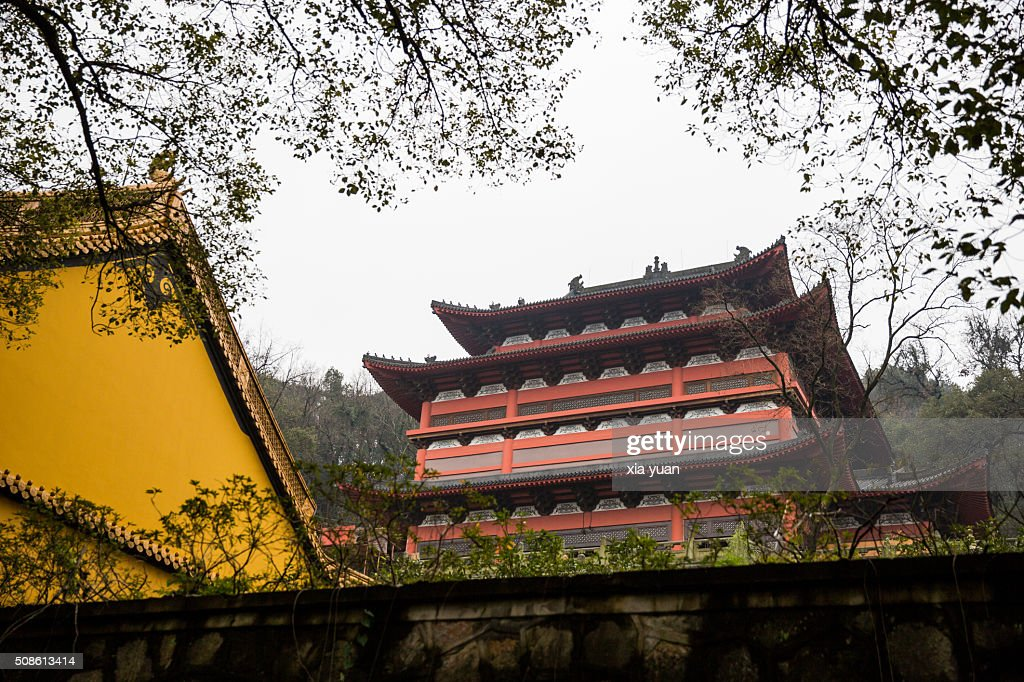 Main hall in Jingci Temple,Hangzhou,China : Stock Photo