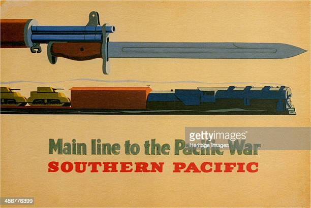 Main Line to the Pacific War Southern Pacific Railroad 1945 Artist George Lerner Lyman Power