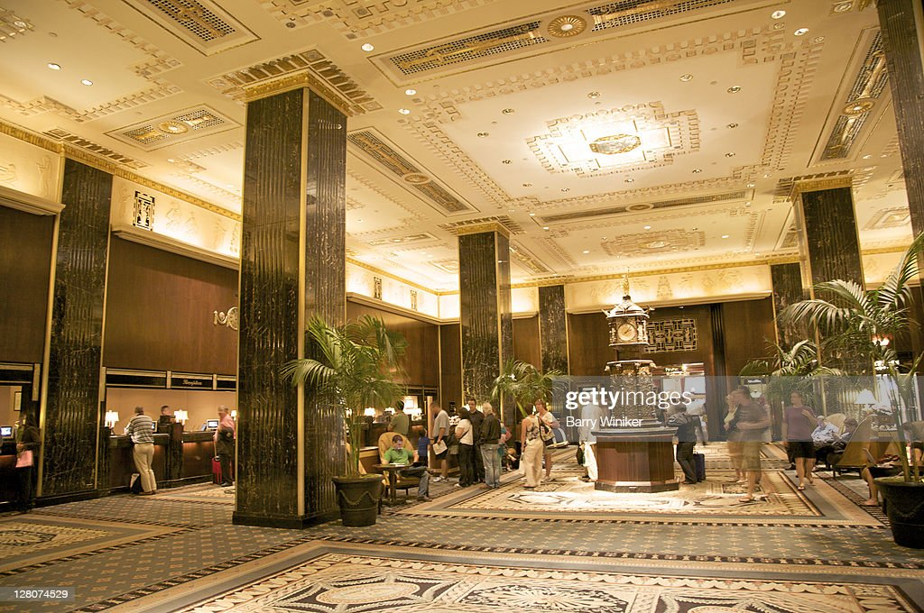 Main lobby, The Waldorf-Astoria, New York, NY, Designed by Schultze and Weaver, 1929-31 in Art Deco style