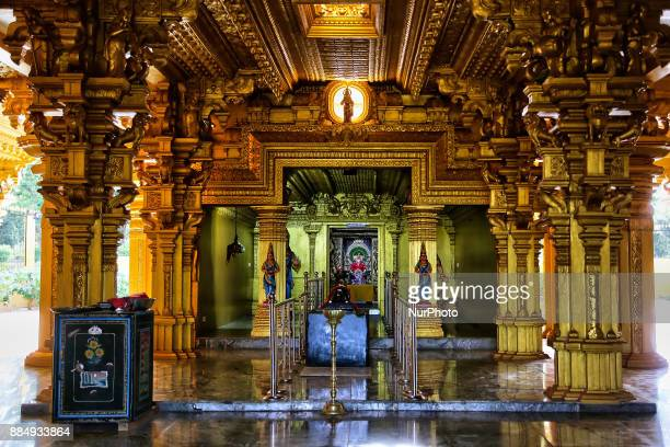 Main prayer hall in the Amman Hindu temple in Vavuniya Sri Lanka This newly built temple is dedicated to Goddess Sri Muthumariamman and is considered...
