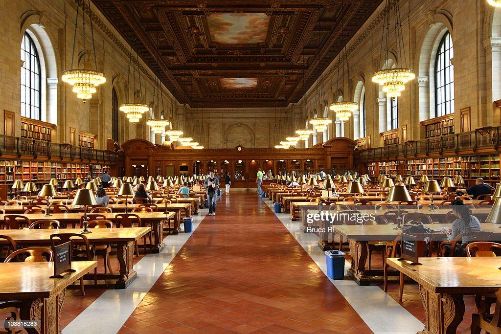 Main reading room of New York Public Library.