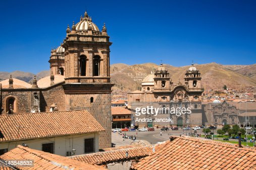 Main square with Cathedral, Cusco