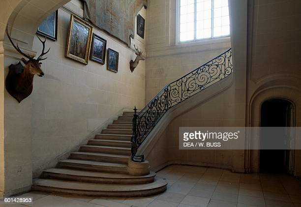 Main staircase Chateau de Lesigny IledeFrance France