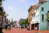 Main Street, Formerly Church Street, Annapolis, Maryland, USA