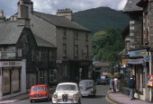 Main street in Ambleside in the Lake District looking north