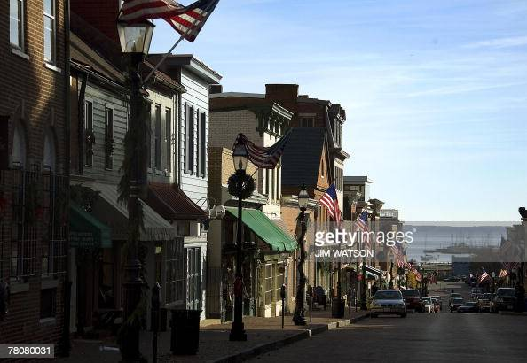 Main Street in in Annapolis Maryland 33 miles east of Washington DC leads to the Annapolis Harbor 24 November 2007 Fortynine nations organizations...