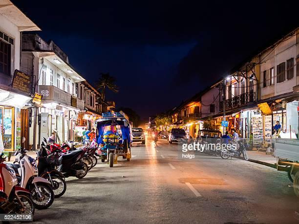 Principal Rue à Luang Prabang, du Laos