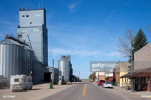 Main Street in Small North Dakota Town