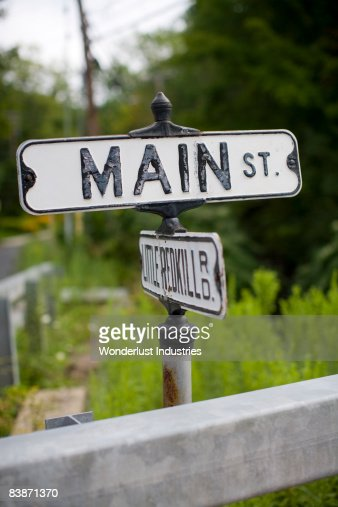 Main Street in small town USA : Stock Photo