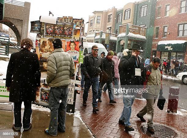 Main Street is seen during the 2006 Sundance Film Festival January 21 2006 in Park City Utah