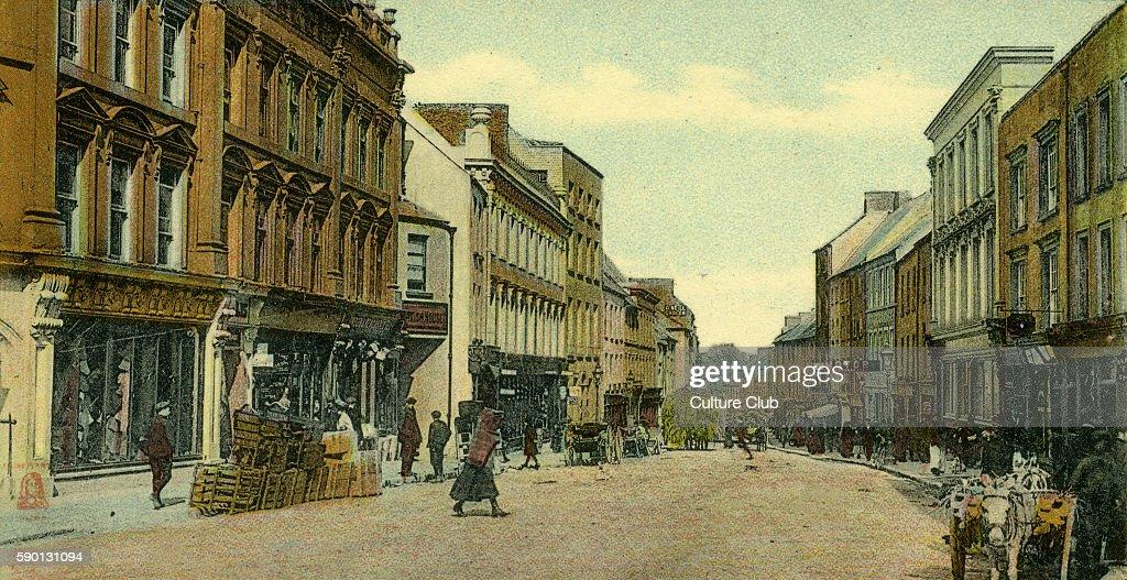 Main Street Kilkenny Ireland Postcard 1909