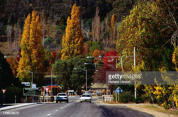 Main street of Mt Beauty heading up towards Falls Creek.