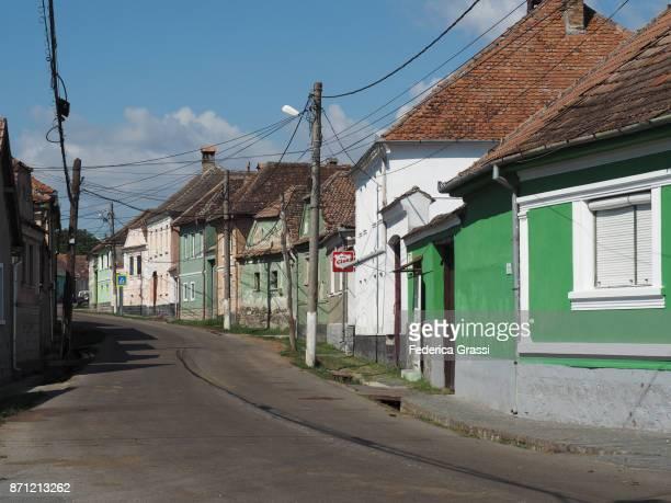 Main Street of Racos, Transylvania, Romania