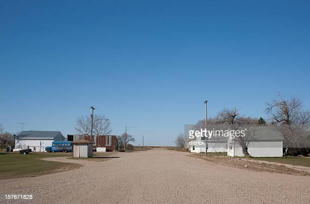 main street remote rural prairie town