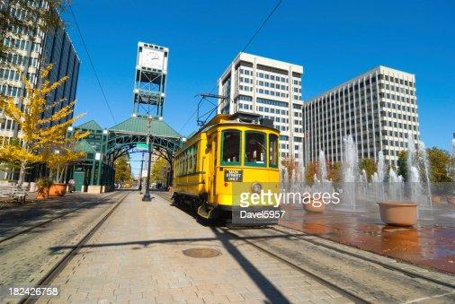 'Main Street Trolley in Memphis, TN'